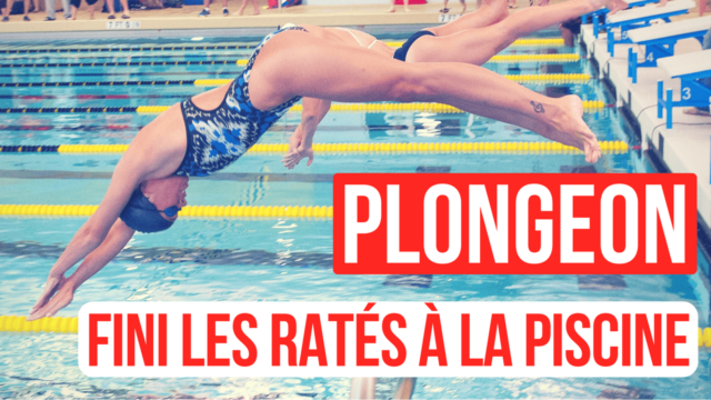 Technique plongeon natation