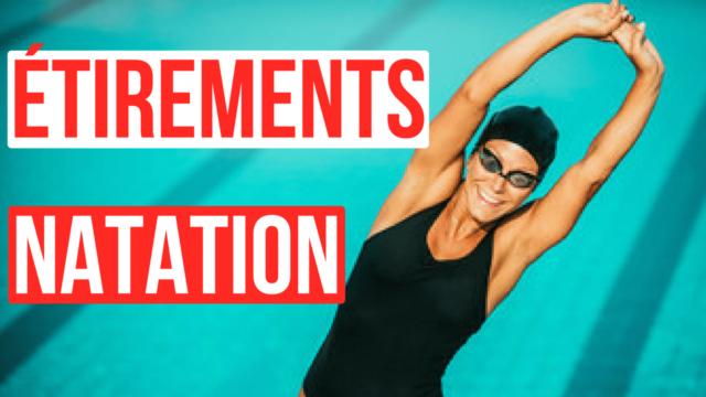 étirements natation