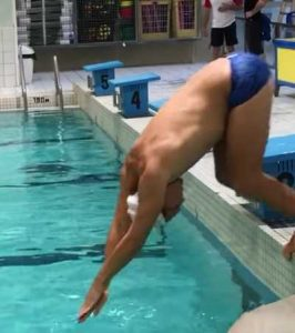 plongeon natation crawl raté