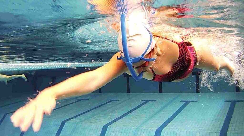 nager le crawl avec tuba