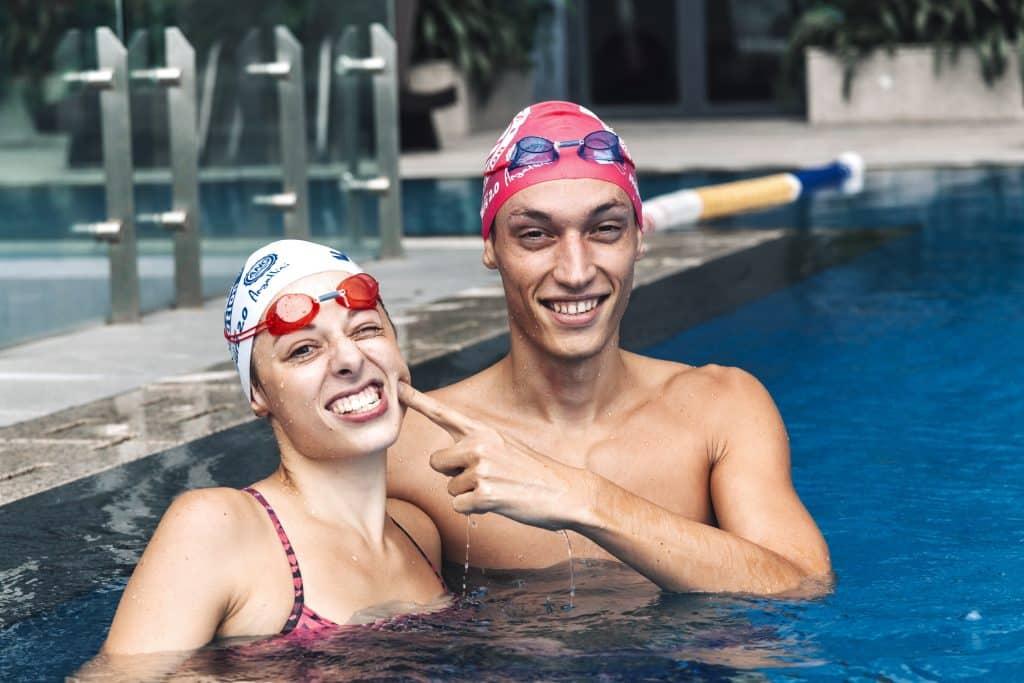 Camille & Thomas, mon coach de natation