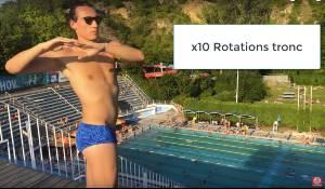 echauffement natation tronc