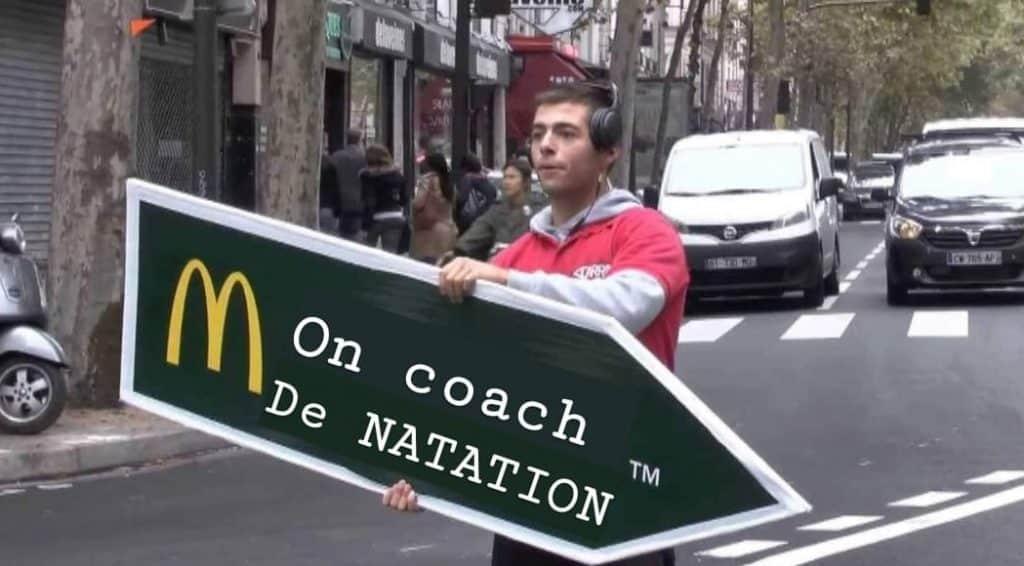 mon coach natation publicité