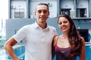 camille et thomas coach de natation