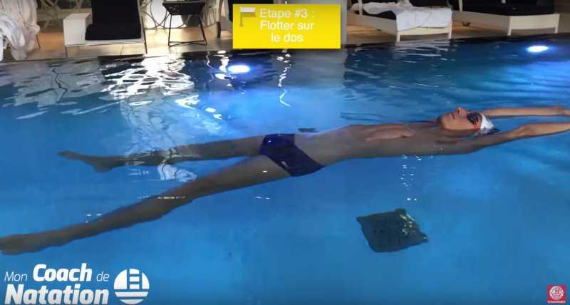 flotter sur le dos