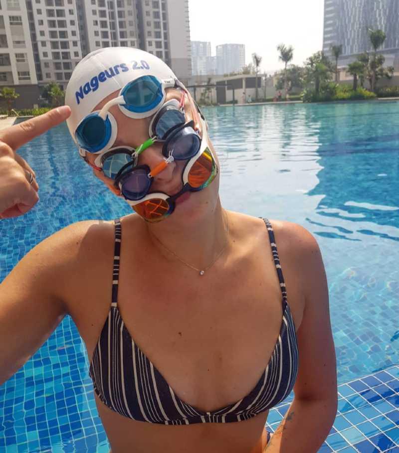 nager en mer lunettes